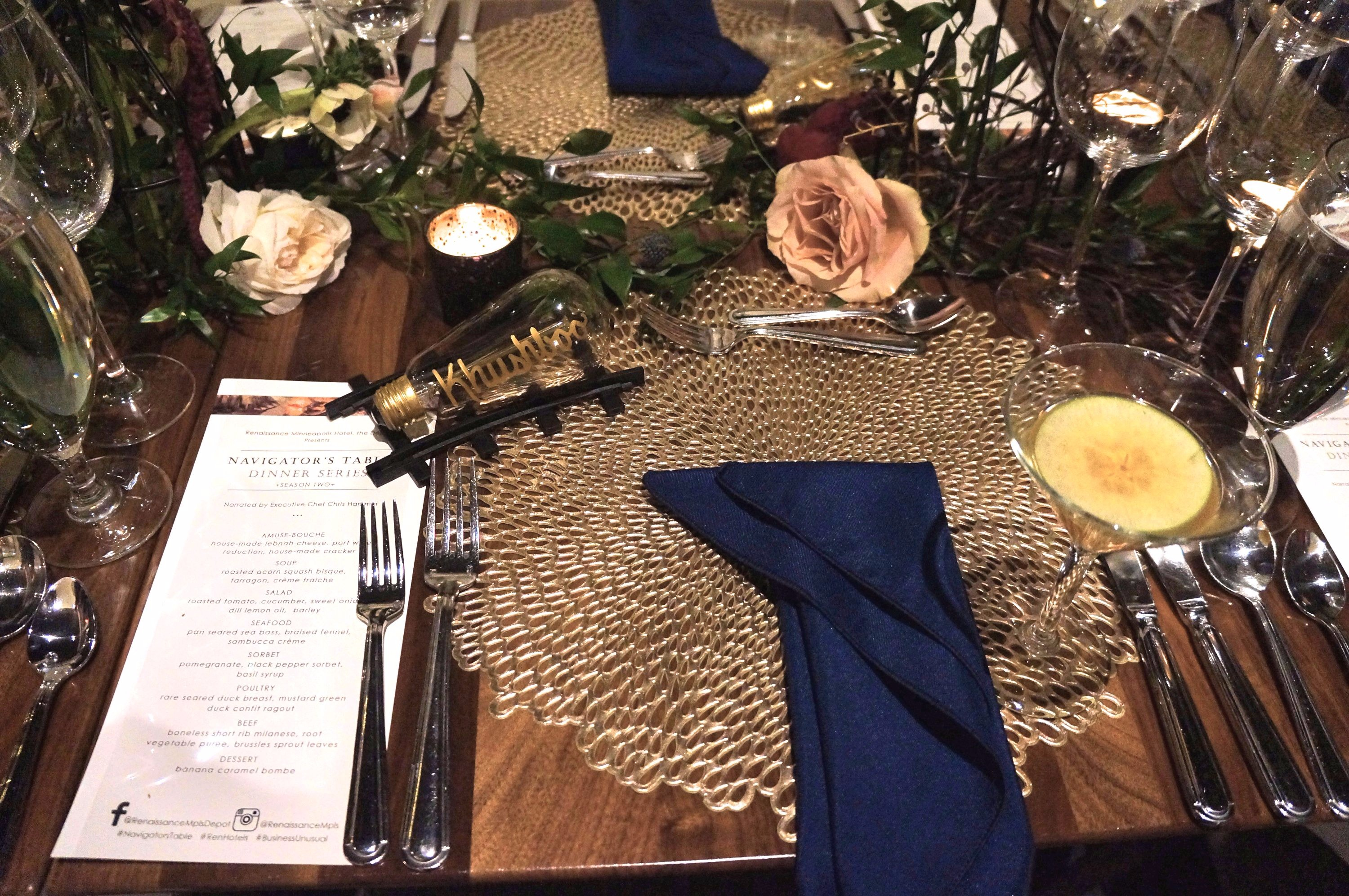 Navigator's Table Dinner Series